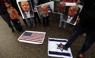 צפו: התגובה הפלסטינית לטראמפ (צילום: רויטרס, חדשות)