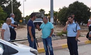 המקום שבו נגנב נשק הקצינה (צילום: ברוך לגזיאל, חדשות)