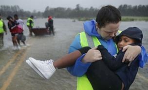 הוריקן פלורנס (צילום: סקיי ניוז, חדשות)