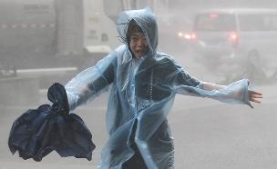 תיעוד הסופה בהונג קונג (צילום: רויטרס, חדשות)