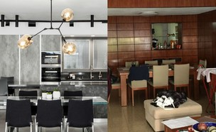דירה ברמת גן, עיצוב מאיה שינברגר, לפני ואחרי (צילום: לפני: מאיה שינברגר, אחרי: איתי בנית)
