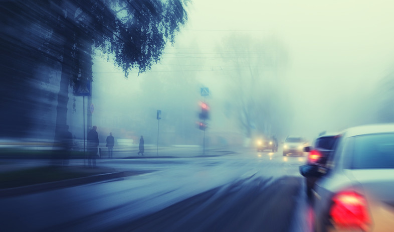 כביש רטוב אילוסטרציה (צילום: Shutterstock)