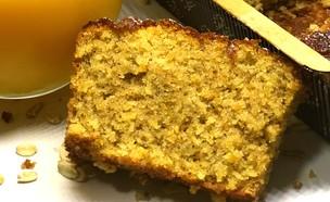 """עוגת תפוזים ושיבולת שועל מקמח כוסמין מלא (צילום: אריאל ברי בן חמו, הבלוג """"בריאלי - אופים בריא יותר"""")"""