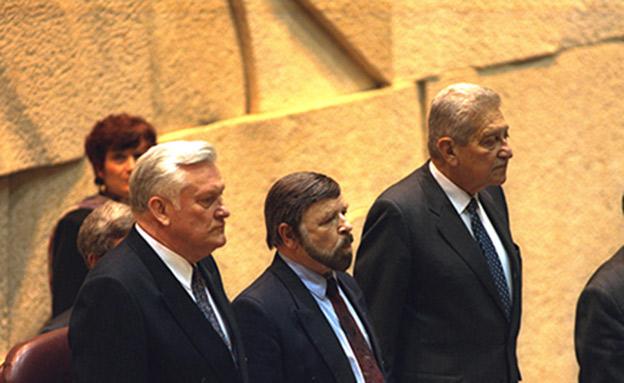"""נשיא ליטא בכנסת, 1995 (צילום: לע""""מ, חדשות)"""