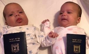 התאומים של הזוג פלד שנתקעו בגיאורגיה (צילום: דברת פלד, חדשות)
