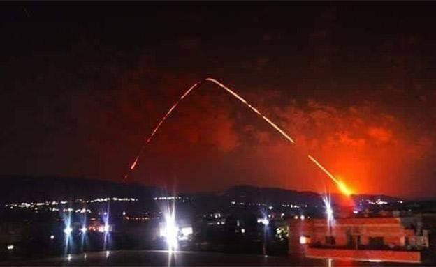 יירוט טילים ששוגרו לעבר טרטוס שבסוריה (צילום: חדשות)