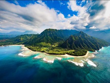 חוף באי קוואי שבהוואי