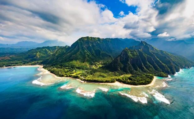 חוף באי קוואי שבהוואי (צילום: Getty Images IL, TheMarker)