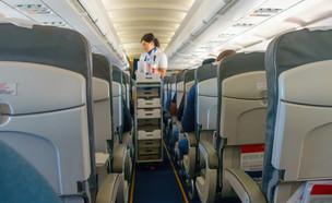 הגשת אוכל במטוס (צילום: Anton Gvozdikov, Shutterstock)