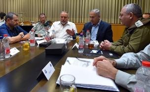 """הרמטכ""""ל עם שרי הקבינט (צילום: אריאל חרמוני משרד הביטחון, חדשות)"""