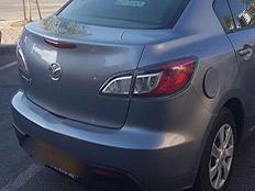 הרכב בו נתפס החשוד (צילום: דוברות המשטרה)