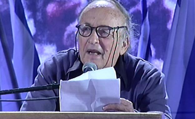 הנאום של גרבוז בכיכר רבין (צילום: חדשות 2)