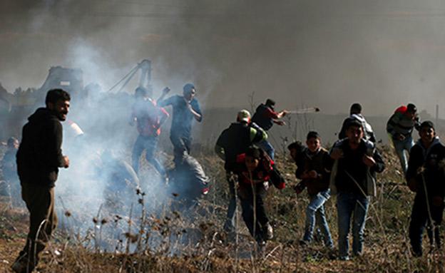"""עימתים בעזה. """"לא להקמת חמאסטן"""" (צילום: רויטרס, חדשות)"""