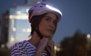 קסדת Lumos מאירה לאופניים (צילום: באדיבות Lumos )