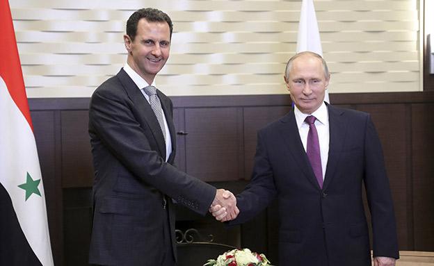 הכוחות הרוסיים יעזבו? פוטין ואסד (ארכיון) (צילום: רויטרס, חדשות)