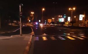 תאונת פגע וברח בתל אביב (צילום: דוברות המשטרה, חדשות)