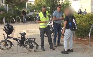 אכיפת חוק האופניים החשמליים (צילום: החדשות)