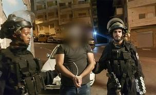 """*מעצר החשודים בהשלכת המטען לעבר מתחם קבר רחל (צילום: דוברות מג""""ב, חדשות)"""