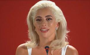 """שחקנית או זמרת? ליידי גאגא מפתיעה בסרט חדש (צילום: מתוך """"ערב טוב עם גיא פינס"""", שידורי קשת)"""