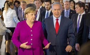 """רה""""מ בנימין נתניהו עם קנצלרית גרמניה אנגלה מרקל (צילום: אמיל סלמן, חדשות)"""