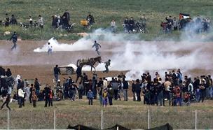 הפרות סדר בצעדת השיבה (ארכיון) (צילום: רויטרס, חדשות)