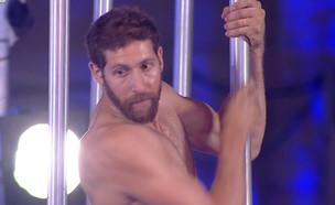 """אדם ברוטמן בחצי הגמר  (צילום: מתוך """"נינג'ה ישראל"""", קשת 12)"""