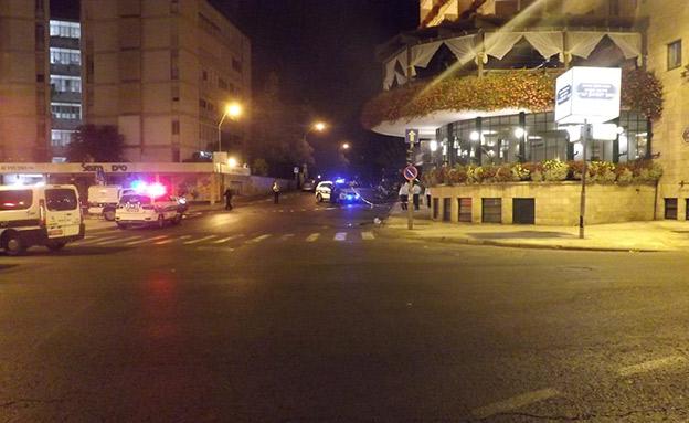 זירת התאונה (צילום: דוברות המשטרה, חדשות)