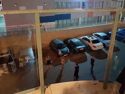 המרפסת שממנה נפלו האחים (צילום: ללא, חדשות)