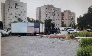 זירת הרצח בקריות (צילום: דוברות המשטרה, חדשות)