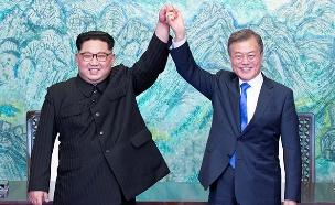 מנהיגי דרום וצפון קוריאה (צילום: רויטרס, חדשות)