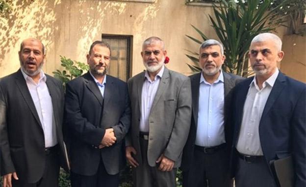 הנהגת חמאס (צילום: סוכנות הידיעות הפלסטינית מען, חדשות)