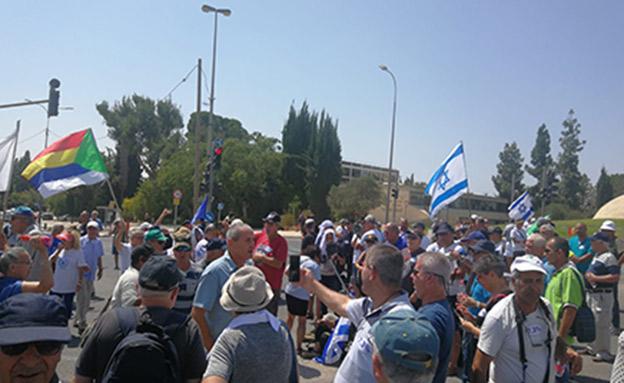 מחאת גמלאי המשטרה, ארכיון (צילום: לביא נאור - דוברות כוחות הביטחון, חדשות)