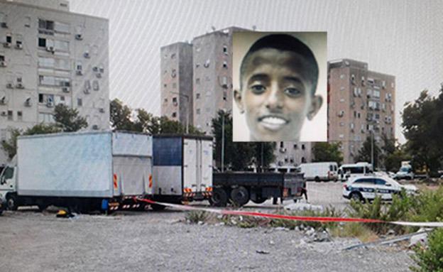 זירת הרצח והקורבן (צילום: דוברות המשטרה, חדשות)