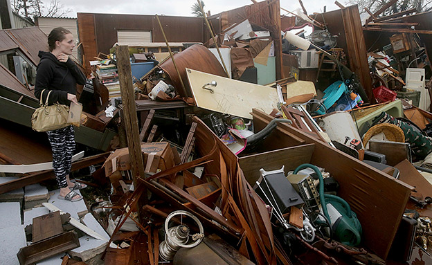 ההרס הרב שהותירה הסופה (צילום: AP, חדשות)