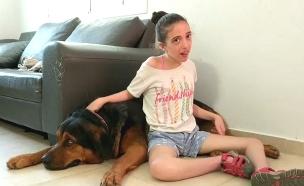 הקשר המופלא בין ילדה המשותקת לכלב הנחייה שלה (צילום: באדיבות המשפחה, חדשות)