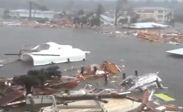 נזקי ההוריקן  בפלורידה (צילום: SKY NEWS, חדשות)