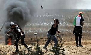 ההפגנות בעזה (צילום: AP, חדשות)