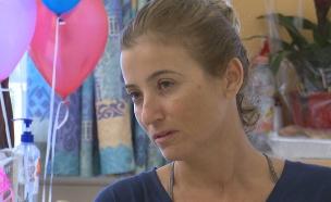 אילנית עוז ששהתה יחד עם משפחתה במלון שהוצת בירושלי (צילום: החדשות)