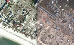צפו: חופי פלורידה - לפני ואחרי הסופה (צילום: CNN, חדשות)