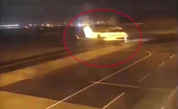 """המטוס ששימש עפ""""י החשד את צוות החיסול (צילום: חדשות)"""