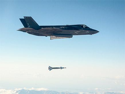 ה-F-35B במהלך טיסה