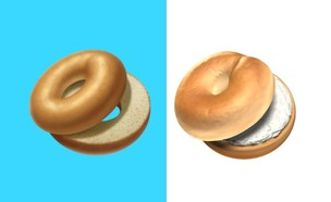 אימוג'י בייגל (איור: Emojipedia)