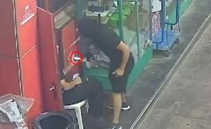 שוד בתחנת דלק בגבעת אולגה (צילום: דוברות המשטרה, חדשות)