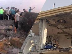 הפגיעה בבית בבאר שבע והתקיפה בעזה (צילום: החדשות)