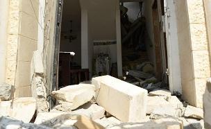 הבית שנפגע מרקטה (צילום: רן דהן/TPS, חדשות)