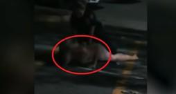 שוטרת מרתקת חייל ערום (צילום: מתוך הסרטון)