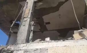 הבית שנפגע בבאר שבע (צילום: החדשות)