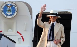 מלאניה והמטוס במצרים (צילום: רויטרס, חדשות)