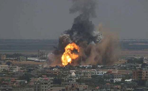 תקיפות חיל האוויר ברצועת עזה (צילום: חדשות)