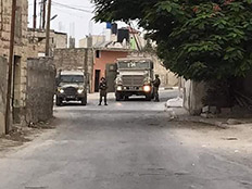 """פעילות צה""""ל בכפר שוויכה (צילום: החדשות)"""